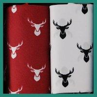 Kapesníky pánské 2ks, jelen - 100% bavlněné kapesníky s tématickým popisem.