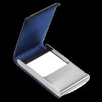 Pouzdro na vizitky TROIKA NIGTH SKY - Luxusní pouzdro na vizitky / karty z ušlechtilé oceli a pravé kůže s gravírováním.