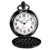 Kapesní otvírací hodinky Kronen & Söhne, černé - Kapesní hodinky z doby, kdy se ještě nespěchalo. Gravírujeme podle vašeho zadání! Přesně, rychle, kvalitně. Zboží skladem, expedice do 24h.