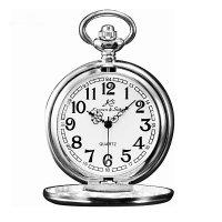 Kapesní otvírací hodinky Kronen & Söhne, stříbrné - Kapesní hodinky z doby, kdy se ještě nespěchalo. Gravírujeme podle vašeho zadání! Přesně, rychle, kvalitně. Zboží skladem, expedice do 24h.