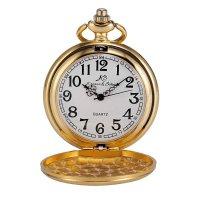Kapesní otvírací hodinky Kronen & Söhne, zlacené - Kapesní hodinky z doby, kdy se ještě nespěchalo. Gravírujeme podle vašeho zadání! Přesně, rychle, kvalitně. Zboží skladem, expedice do 24h.