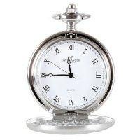 Kapesní otvírací hodinky David Aster, stříbrné - Kapesní hodinky z doby, kdy se ještě nespěchalo. Gravírujeme podle vašeho zadání! Přesně, rychle, kvalitně. Zboží skladem, expedice do 24h.