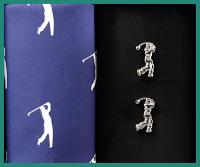 Sada kapesník + manžetové knoflíky GOLF - 100% bavlněný pánské kapesník tématicky sladěný s manžetovými knoflíčky. Zboží máme skladem - připraveno k okamžitému odeslání!