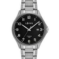 Hodinky LAVVU Titanum Lillehammer Black, pánské - Špičkové pánské náramkové hodinky. Gravírujeme podle vašeho zadání! Přesně, rychle, kvalitně. Zboží skladem, expedice do 24h.