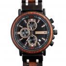Hodinky TIMEGENT Elysium Dark, dřevěné, pánské - Náramkové hodinky s luxusním dřevěným řemínkem a možností gravírovaného věnování. Skvělý dárek! Skladem, expedice do 24h.