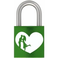 Zámek z lásky 40 Al zelený - s gravírováním