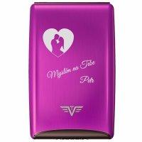 TRU VIRTU RAZOR Credit Card Case Purple Rain - s laserovým gravírováním