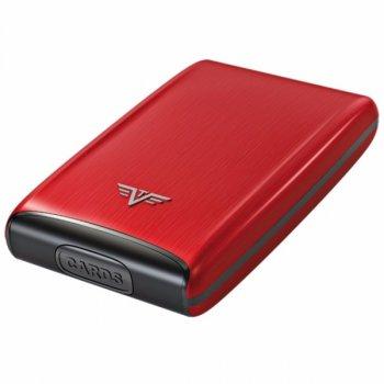 Pouzdro TRU VIRTU RAZOR Credit Card Case Red Pepper - s gravírováním