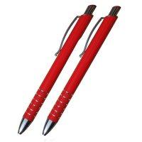Kuličkové pero + mikrotužka, červené - S ghravírováním