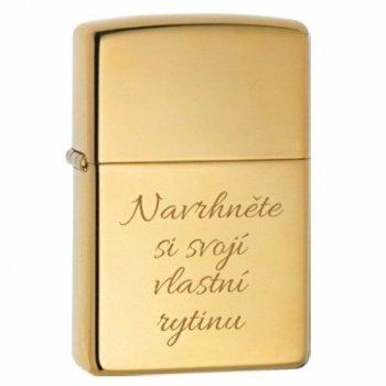Zippo 254B High Polish Brass - s gravírováním