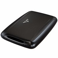 TRU VIRTU PEARL Card Case černé/Black Magic - s rytinou