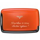 TRU VIRTU PEARL Card Case Orange Blossom - s gravírováním