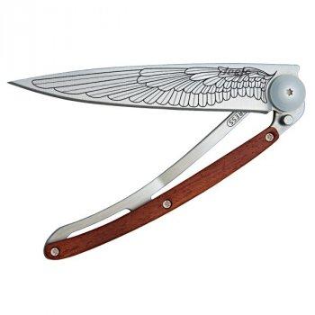 Nůž deejo 1CB016 Tatto Wing rosewood - s gravírováním