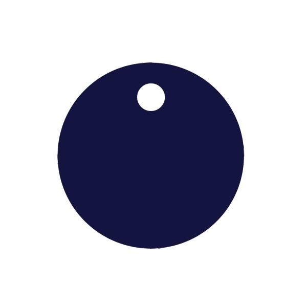 Psí známka KOLEČKO d30, AL modrá + MOŽNOST GRAVÍROVÁNÍ + DÁREK ZDARMA