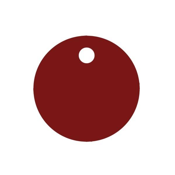 Psí známka KOLEČKO d30, AL červená