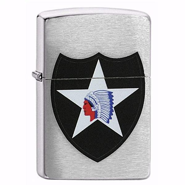Levně Zapalovač ZIPPO#200, 2nd Infantry Division U.S.Army + MOŽNOST GRAVÍROVÁNÍ + DÁREK ZDARMA + DÁRKOVÉ BALENÍ ZDARMA