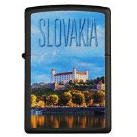 Zapalovač ZIPPO#218 BLACK, SLOVAKIA - s gravírováním