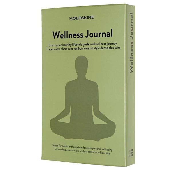 Moleskine Zápisník Passion Wellness Journal tvrdé desky L, zelený A5 200 listů + DÁREK ZDARMA